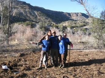 19. A crew from Rocky Mountain Youth Corps was hired to help spread the chipped biomass.